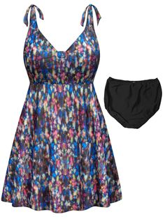 24df4226179be Customizable Plus Size Star Bright Print Halter or Shoulder Strap 2pc  Swimsuit/SwimDress 0x 1x 2x 3x 4x 5x 6x 7x 8x 9x