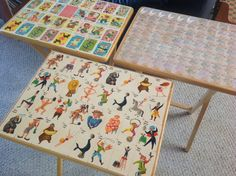 How to Decoupage TV Trays