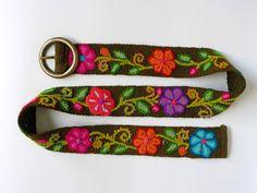handmade peruvian floral belts