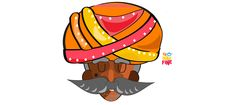 Designed these turban men for upcoming firm of cuztomized goods these would be printed on phone covers.This is my first project in Adobe Illustrator (I am more of a photoshop and flash person). Dance Paintings, Indian Art Paintings, Independence Day Drawing, Craft From Waste Material, Rajasthani Art, Indian Illustration, Painted Clothes, Couple Cartoon, Wall Art Pictures