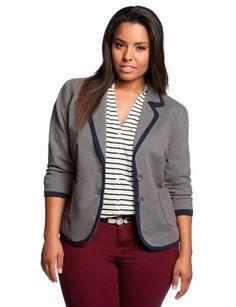 Tipped Patch Pocket Pocket Blazer   Plus Size Jackets & Blazers   eloquii by THE LIMITED