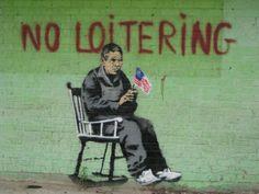 20. No Loitering - Banksy's graffiti in Bronx. What else are veterans doing?