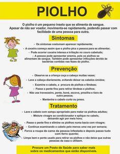 Aprender Brincando: Projeto: Piolho na Educação Infantil