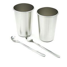 Barware Kitchen, Dining, Bar Stainless Steel Glasses Set Of 6 Tumbler Water Tea Steel Glass Mirror Finish