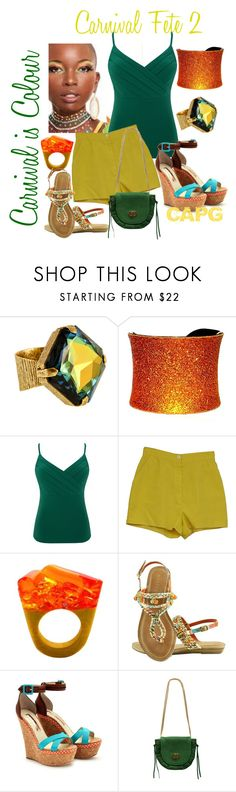 """Carnival Fete 2"" by trinisugar ❤ liked on Polyvore featuring Alex and Ani, UNEARTHED, Alexon, Koret, Pasionae, Bakers and Rupert Sanderson"