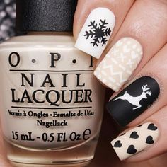 Deer Stencils for Nails, Christmas Nail Stickers, Nail Art, Nail Vinyls – Makeup Christmas Nail Stickers, Cute Christmas Nails, Xmas Nails, Christmas Nail Art Designs, Winter Nail Designs, Cute Nail Designs, Holiday Nails, Diy Nails, Cute Nails