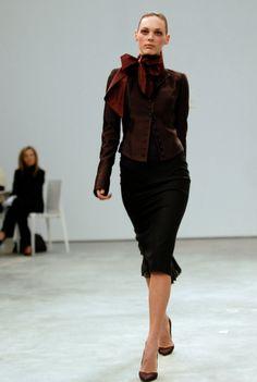 L'Wren Scott--love the side neck bow. (Unfortunate end to a lovely designer.)
