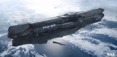 View an image titled 'Starship Art' in our Halo 4 art gallery featuring official character designs, concept art, and promo pictures. Star Citizen, Spaceship Art, Spaceship Design, Concept Ships, Concept Art, Star Wars, Halo Ships, Starship Concept, Sci Fi Spaceships