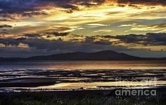 Evening Light Over The Solway Firth by Ian Lewis Cumbria, Landscapes, Coast, Wall Art, Sunset, Travel, Outdoor, Image, Paisajes