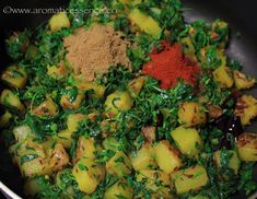 Aloo methi recipe with step-by-step pictures. How to prepare aloo methi, a simple yet delicious and wholesome vegetarian preparation. Aloo Methi Recipe, Methi Recipes, Curry Recipes, Humble Potato, Raw Potato, Potato Recipes, Gourmet Recipes, Healthy Recipes, Aloo Gobi