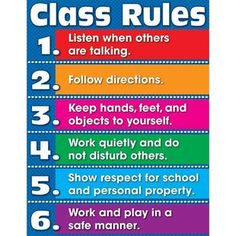 Carson Dellosa Class Rules Chart x Perfect addition to any classroom An excellent reference resource for students Class Rules Poster, Classroom Rules Poster, Classroom Charts, Classroom Behavior, Classroom Language, Classroom Ideas, Class Rules Display Ks2, Success Poster, Classroom Discipline