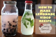 How to Make Lemonade- Plain, Blueberry & Mint Recipes  Yummy and fun for the family.
