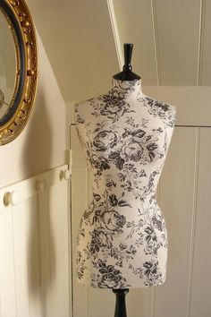 Great Decor/Display Etched Roses Paris Linen Display Mannequin by CorsetLacedMannequin, Etsy