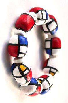 mondrian bracelet Piet Mondrian, Wassily Kandinsky, Klimt, Bauhaus, Theo Van Doesburg, Weird Art, Art Plastique, Teaching Art, Art History