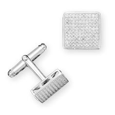 MEN'S Sterling Silver Rhodium Plated Pave CZ by ForsgateJewelry