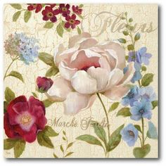 Marche Jardin Canvas Wall Art
