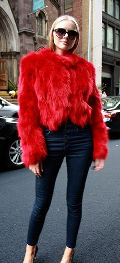 Fur Coats Mink Coats Fur Vests These fur coats may consist of special purchases or one of a kind fur coats.This Section our Furs are always on Sale. Fox Coat, Fox Fur Jacket, Fur Coat Outfit, Red Fur, Mode Mantel, Fur Fashion, Womens Fashion, Autumn Winter Fashion, Cute Outfits