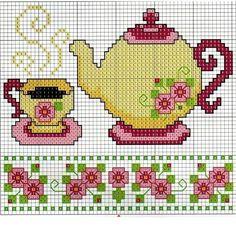 Çay potu ve fincan işlemek isteyenler buyrun 💁 sizin icin sectim bu sablonu hem kolay hemde guzel degil mi🙄