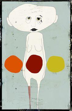 << la jongleuse >> Art Print by linda vachon - X-Small Canvas Art Prints, Framed Art Prints, Desenho Pop Art, Reading Art, Funky Art, Unusual Art, Art Plastique, Face Art, Figurative Art