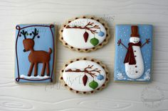 Whimsical Christmas by Artfully Delicious Cookies, via Flickr. Love, love love!