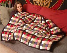 Basket weave Afghaanse deken haak dikke door lovinghandscrochet