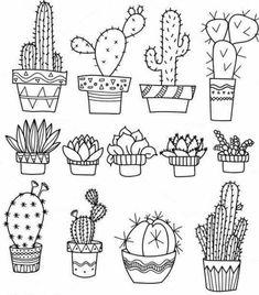 Doodle art 712061391074936985 - Bullet journal doodles Doodle drawings Cactuses doodle Gri Source by Bullet Journal Ideas Pages, Bullet Journal Inspiration, Bullet Journal Leaves, Doodle Drawings, Easy Drawings, Tattoo Drawings, Flower Drawings, Zentangle Drawings, Doodle Sketch