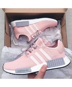d6bf5e7948642a Cheap Adidas NMD Exclusive Trainers In Pink Grey Sale Clearance Pink Adidas  Shoes