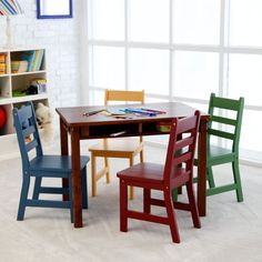 5-Piece Blue and White Children\u0027s Table and Chair Set Blue/White/Gray | Products & 5-Piece Blue and White Children\u0027s Table and Chair Set Blue/White ...