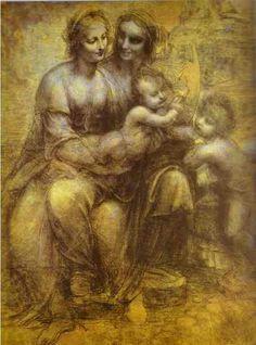 Leonardo da Vinci. Burlington House Cartoon
