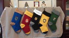 Personalized Harry Potter Christmas Stocking by BlueWaterGifts Christmas Tree Hooks, Crochet Christmas Trees, Handmade Christmas, Christmas Stockings, Crochet Hat Size Chart, Crochet Blanket Edging, Harry Potter Christmas, Crochet Mandala, Free Baby Stuff