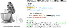 Amazon Canada Deals: Save 40% on KitchenAid Tilt-Head Stand Mixer & 37% on West Bend Egg and Muffin Toaster http://www.lavahotdeals.com/ca/cheap/amazon-canada-deals-save-40-kitchenaid-tilt-head/213564?utm_source=pinterest&utm_medium=rss&utm_campaign=at_lavahotdeals