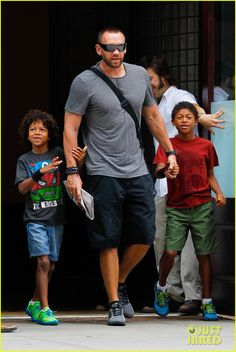 Heidi Klum and Martin Kirsten take the kids Leni, Henry, Johan and Lou to breakfast on July 12, 2013