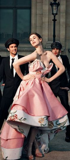 Christian Dior Haute Couture S/S 2009 & Elettra Rossellini Wiedemann | Photo by Jason Schmidt | Tatler UK May 2009