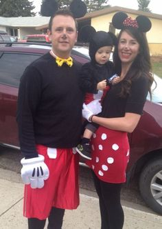 Micky mouse Minnie Mouse baby Micky mouse. Family Halloween costume  sc 1 st  Pinterest & Mickey Mouse Halloween   Halloween Costumes   Pinterest   Mickey ...