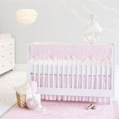 Just Born® Sparkle Crib Bedding Collection in Pink - www.buybuyBaby.com