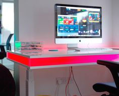 You'll now get to change your posture throughout the day while you're busy at work using the TableAir Interactive Desk.