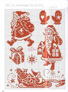 Скоро-скоро к нам придет, долгожданный Новый год. вышивка крестом. монохром. Обсуждение на LiveInternet - Российский Сервис Онлайн-Дневников