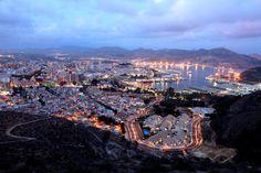 Anochecer en Cartagena (España) - Spain.