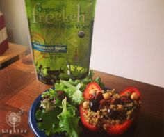 Lighter | Freekeh Foods Review + Recipe for Rosemary Freekeh Stuffed Bell Peppers