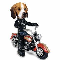 Cute  Beagle Motorcy