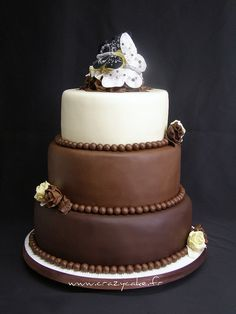 Chocolate wedding cake by Crazy Cake - Cakedesigner57, via Flickr