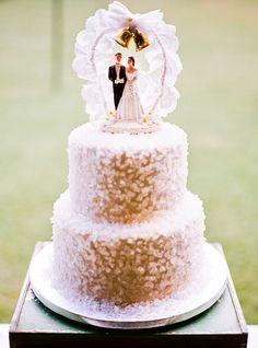 sugar crystals on wedding cake.