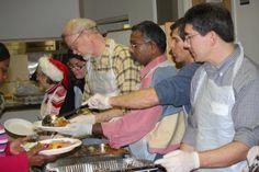Food kitchen volunteers.