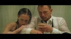 James Bond Shows His Softer Side (Casino Royale Shower Scene) (+playlist)