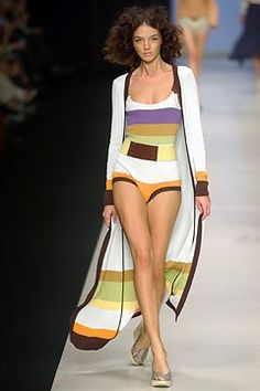 Missoni Spring 2004 Ready-to-Wear Fashion Show - Angela Missoni, Mariacarla Boscono
