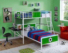 17 Bunk Beds with Desks Underneath for Sale - Goedeker's Home Life Bunk Bed With Desk, Cool Bunk Beds, Toddler Bunk Beds, Kid Beds, Bed With Desk Underneath, Bunk Bed Plans, Powell Furniture, Kids Bedroom Sets, Kids Room