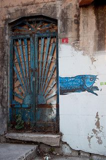 Fish and Door   By Tyler. Istanbul, Turkey