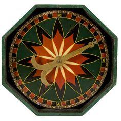 Pennsylvania Game Wheel With Striking Graphics, c. 1890-1900.