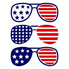 USA America Merica Sunglasses Cuttable Design Cut File. Vector, Clipart, Digital…