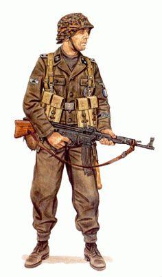 Waffen SS - Officer of Pioniere Kompanie 33, French Waffen SS unit, April 1945